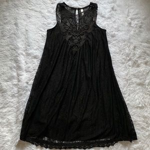 Xhilaration Black Baby Doll Lace Dress